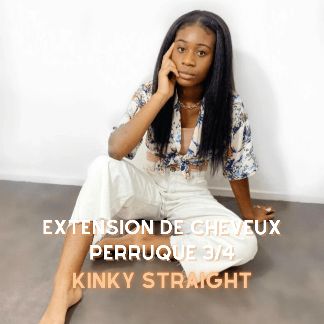 Capelli afro lisci a tessitura veloce CoquetWigs Kinky Straight