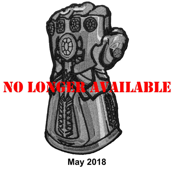 The Tactical Gear Junkie Patch of the Month - MAY - Infinity Gauntlet with Free Sticker
