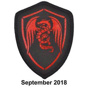 The Tactical Gear Junkie Patch of the Month - September- Laser Cut Red Reflective Dragon