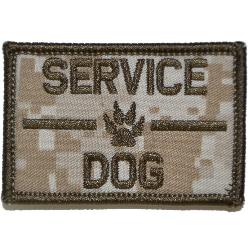 Tactical Gear Junkie Patches MARPAT Desert Service Dog, K9 Dog Patch - 2x3 Patch