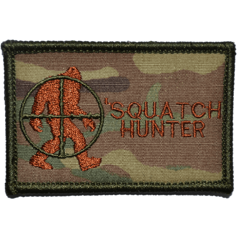 Tactical Gear Junkie Patches MultiCam w/ Spice Squatch Hunter - 2x3 Patch