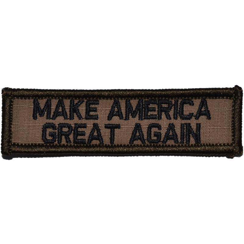 Tactical Gear Junkie Patches Coyote Brown w/ Black Make America Great Again - 1x3.75 Patch