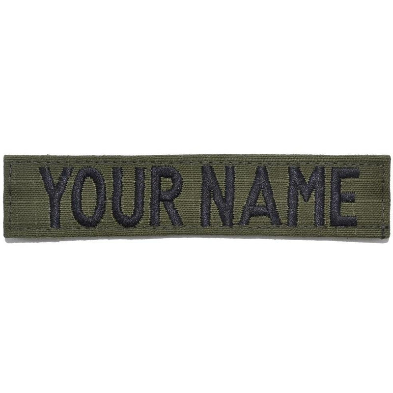 Tactical Gear Junkie Name Tapes RipStop Custom Name Tape - Olive Drab