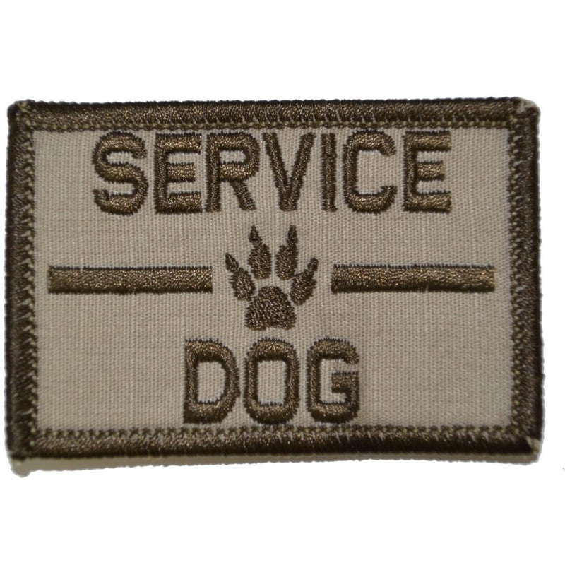 Tactical Gear Junkie Patches Desert Sand Service Dog, K9 Dog Patch - 2x3 Patch
