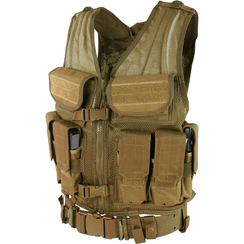 Condor Tactical Gear Coyote Brown Condor Elite Tactical Vest