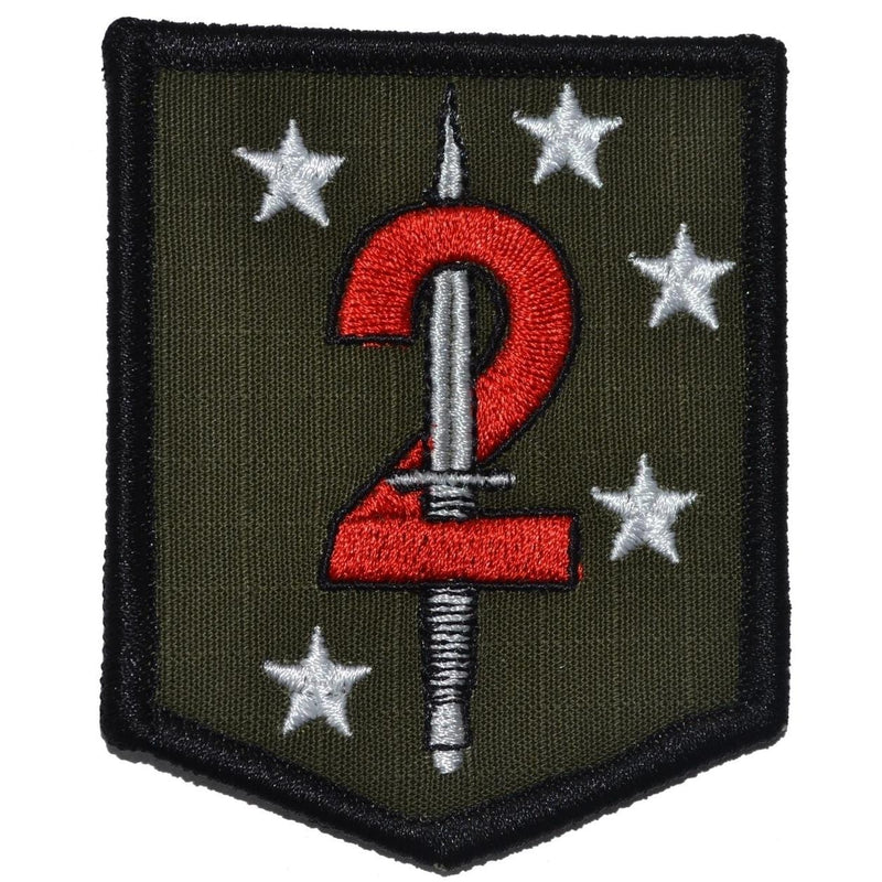 Tactical Gear Junkie Patches Olive Drab 2d Marine Raider Battalion MarSOC - 2.5x3 Shield Patch