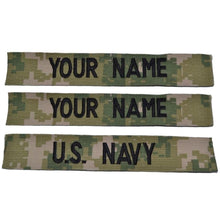 NAVY NWU TYPE III AOR 2 Forest - 3 PIECE NAME TAPE SET SEW ON (NO FASTENER)