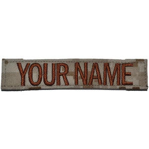 Single Name Tape w/ Hook Fastener Backing - Desert Marpat