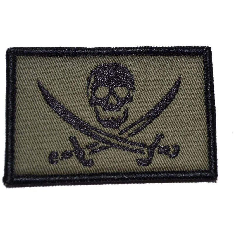 Tactical Gear Junkie Patches Olive Drab Pirate Jolly Roger - 2x3 Patch