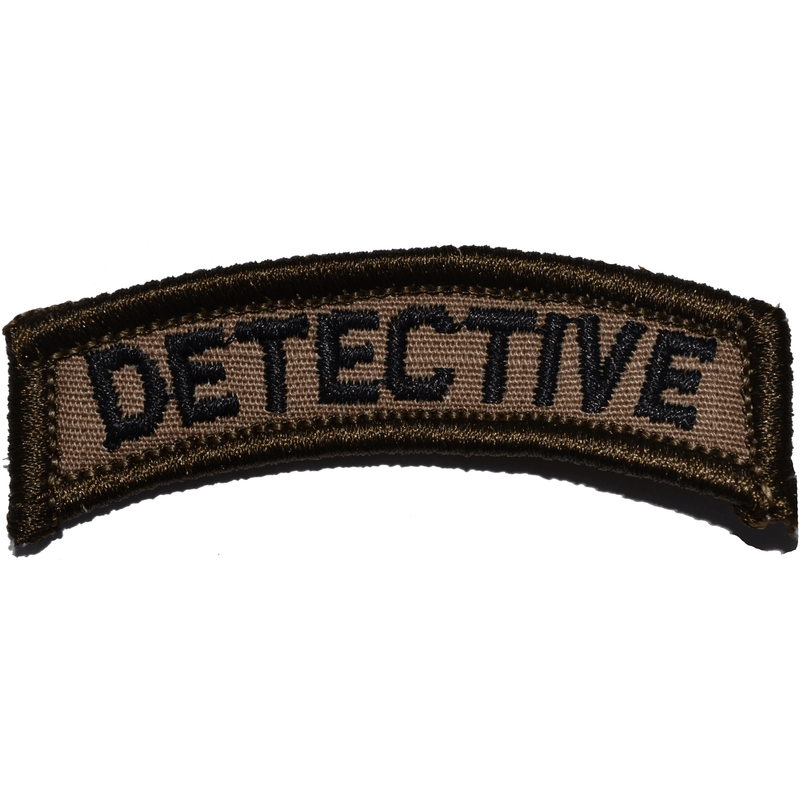 Tactical Gear Junkie Patches Coyote Brown w/ Black Detective Tab Patch