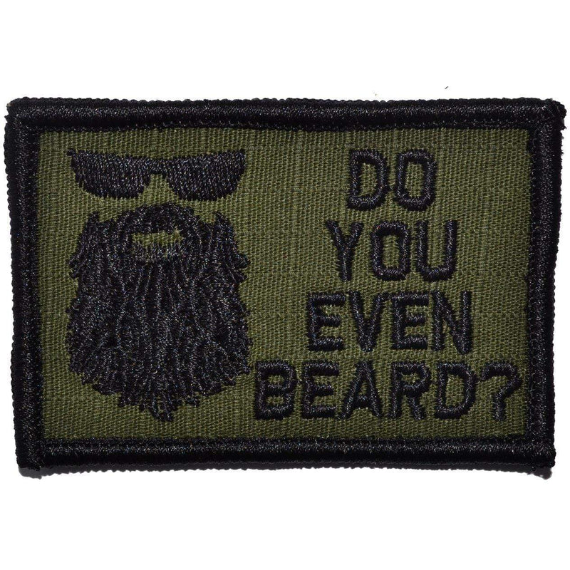 Tactical Gear Junkie Patches Olive Drab Do You Even Beard? - 2x3 Patch