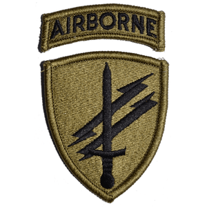 Civil Affairs Psychological Operations Patch with Airborne Tab Multicam/OCP/Scorpion