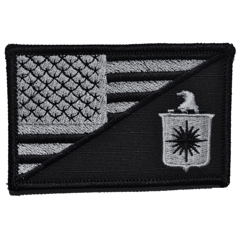 Tactical Gear Junkie Patches Black CIA Central Intelligence Agency USA Flag - 2.25x3.5 Patch