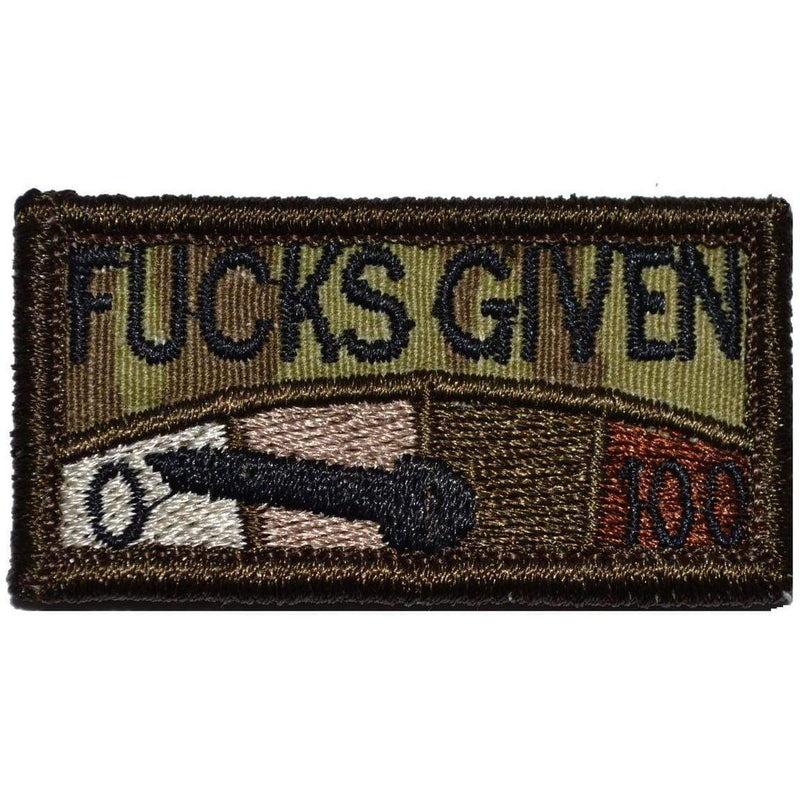 Tactical Gear Junkie Patches MultiCam Zero Fucks Given Meter - 1x2 Patch