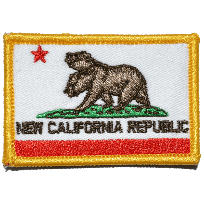 Tactical Gear Junkie Patches Full Color New California Republic NCR State Flag - 2x3 Patch
