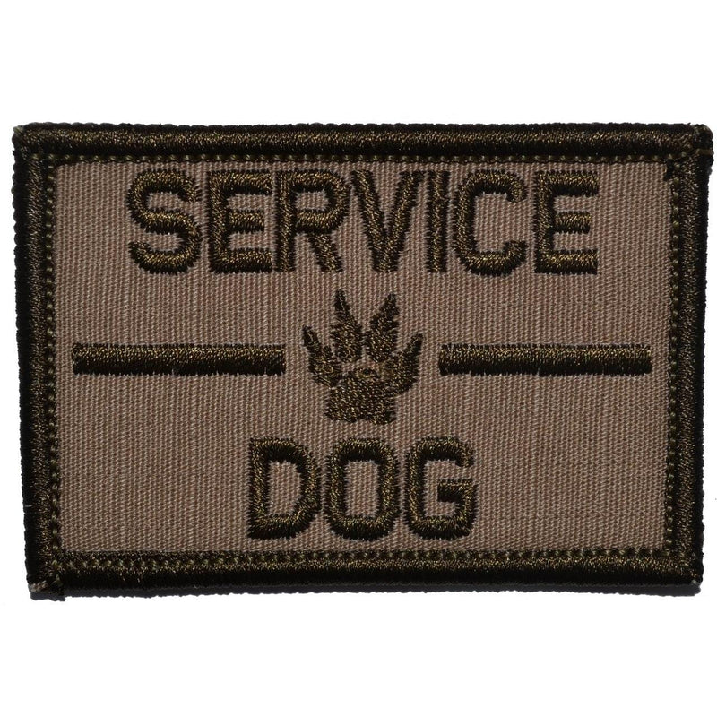 Tactical Gear Junkie Patches Coyote Brown Service Dog, K9 Dog Patch - 2x3 Patch