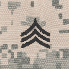 Tactical Gear Junkie Rank SGT Army Rank - SEW ON - ACU
