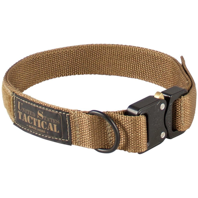 United States Tactical Tactical Gear M / Coyote Brown United States Tactical Dog Collar with COBRA Buckle