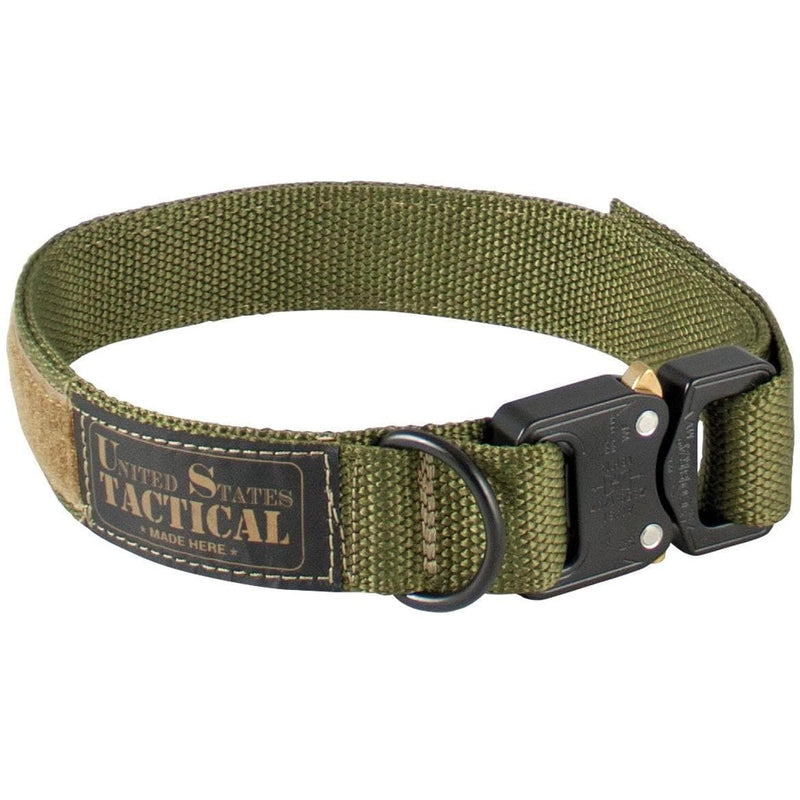 United States Tactical Tactical Gear M / Olive Drab United States Tactical Dog Collar with COBRA Buckle