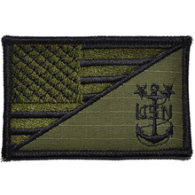 Navy MCPO Master Chief Petty Officer USA Flag 2.25x3.5inch Patch