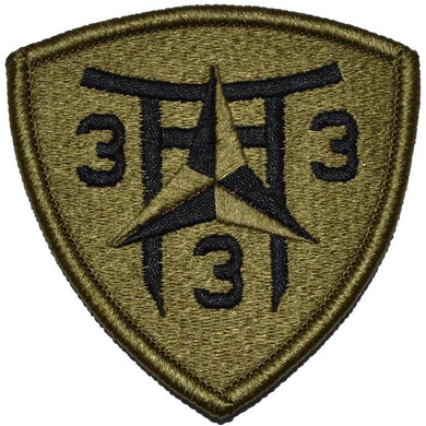 3rd Battalion 3rd Marine Regiment Shield Patch - Fully Embroidered