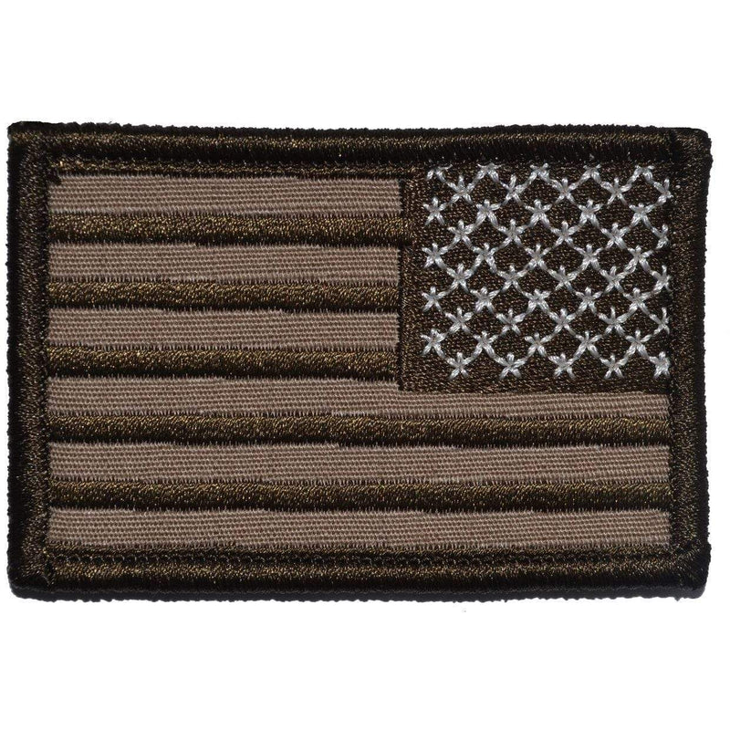 Tactical Gear Junkie Patches Right Face (Reverse) Coyote Brown USA Flag - 2x3 Patch