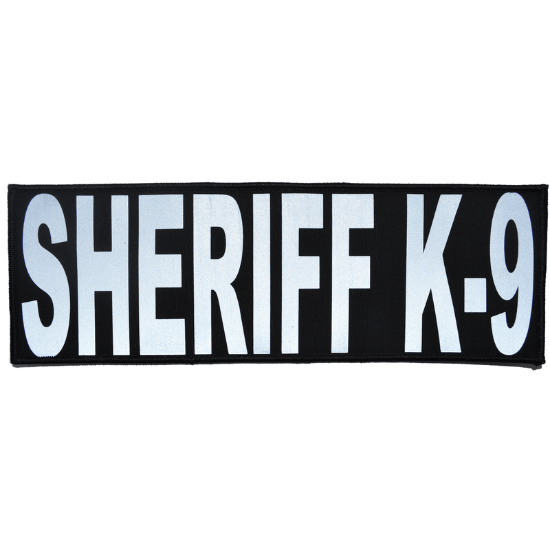 Tactical Gear Junkie Patches Black Sheriff K-9 Reflective - 4x12 Patch