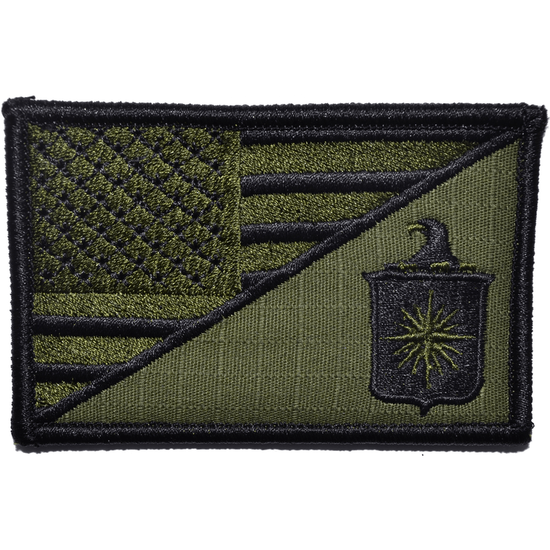 Tactical Gear Junkie Patches Olive Drab CIA Central Intelligence Agency USA Flag - 2.25x3.5 Patch