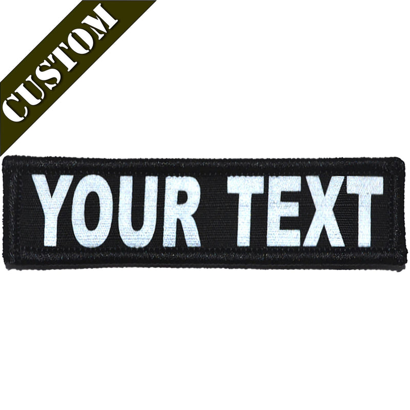 Tactical Gear Junkie Patches Custom Reflective Patch - 1x3.75