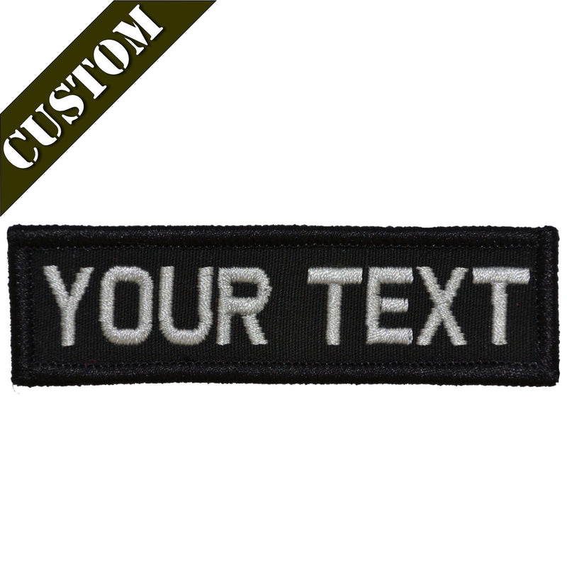 Tactical Gear Junkie Patches Custom Text Patch - 1x3