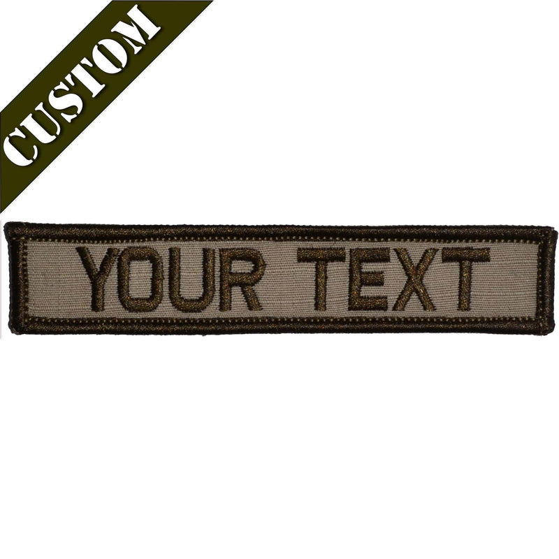 Tactical Gear Junkie Patches Custom Text Patch - 1x5
