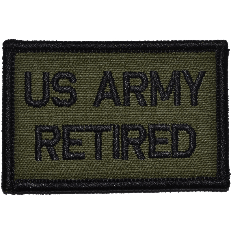 Tactical Gear Junkie Patches Olive Drab US Army Retired- 2x3 Patch