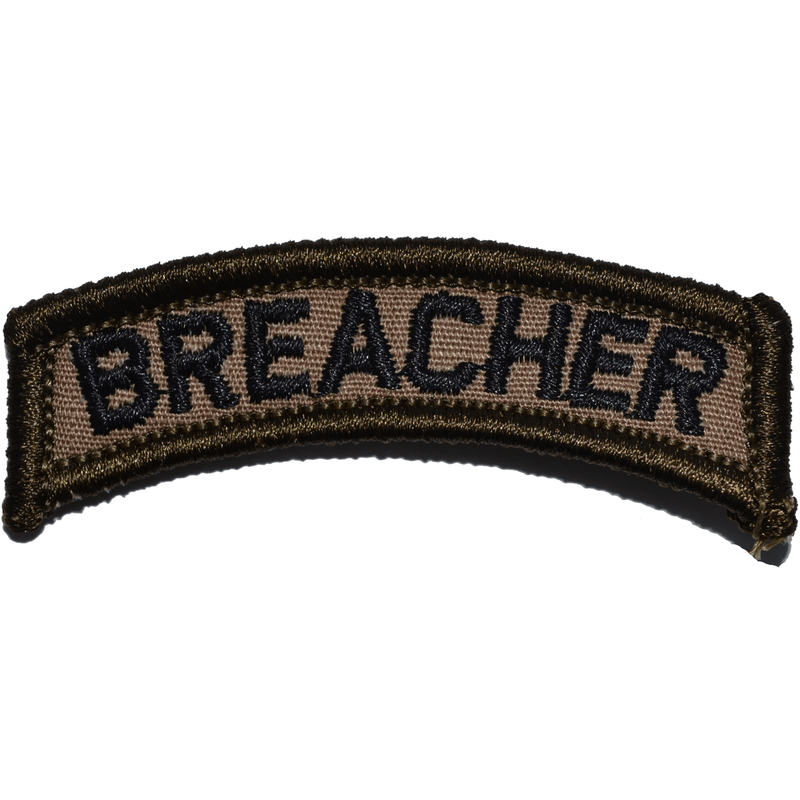 Tactical Gear Junkie Patches Coyote Brown w/ Black Breacher Tab Patch