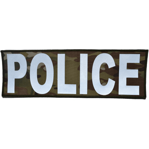 POLICE Reflective - 4x12 Patch