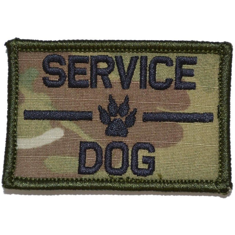 Tactical Gear Junkie Patches MultiCam Service Dog, K9 Dog Patch - 2x3 Patch