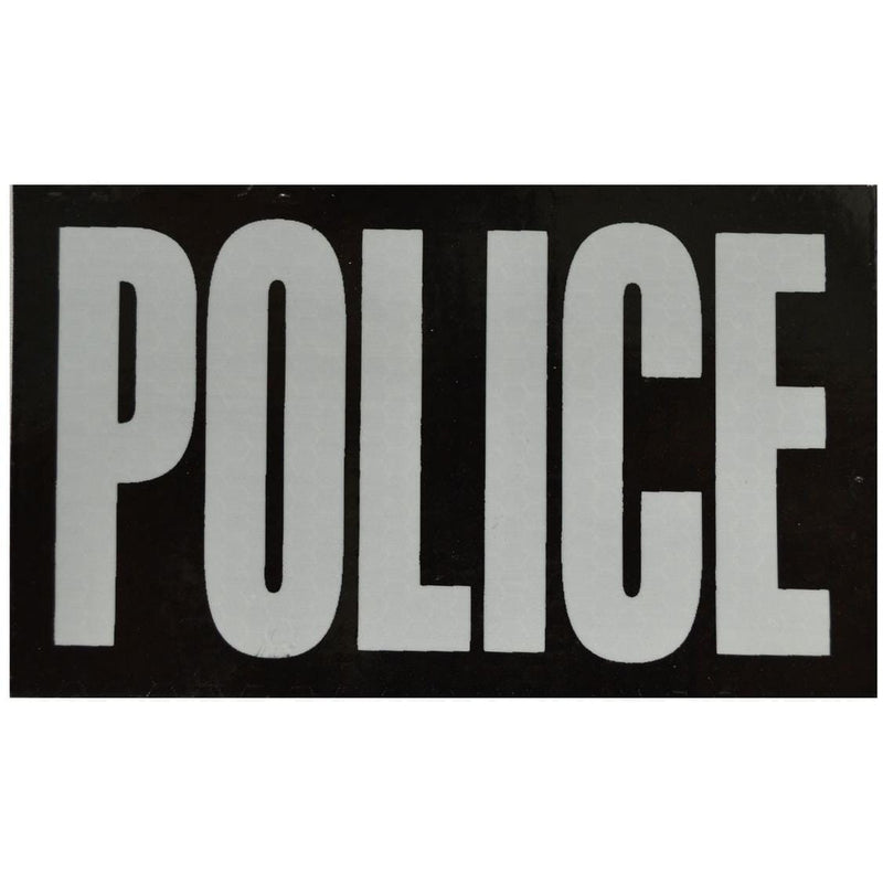 WarriorGlo Patches IR (Infrared) POLICE (White Graphic) - 3x5 Inch Patch