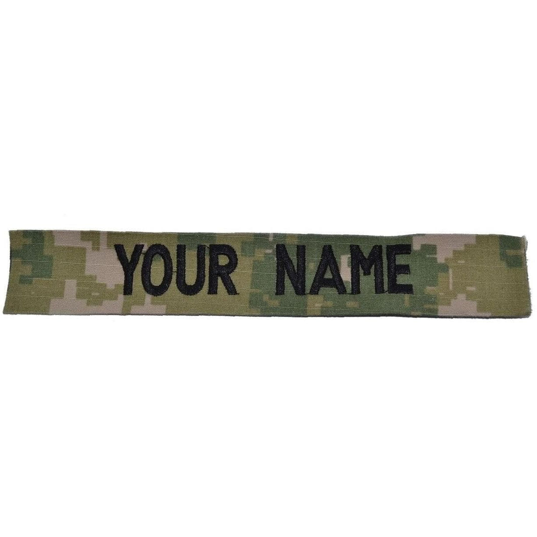 NAVY NWU TYPE III AOR 2 Forest - SINGLE NAME TAPE SEW ON (NO FASTENER)