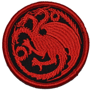 Targaryen Dragon / Game of Thrones - 3 inch Round Patch