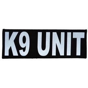 Reflective K9 Unit Patch - 3inch x 9inch