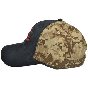 Liberty Or Death - Embroidered Suede / Desert Digital Camo Hat