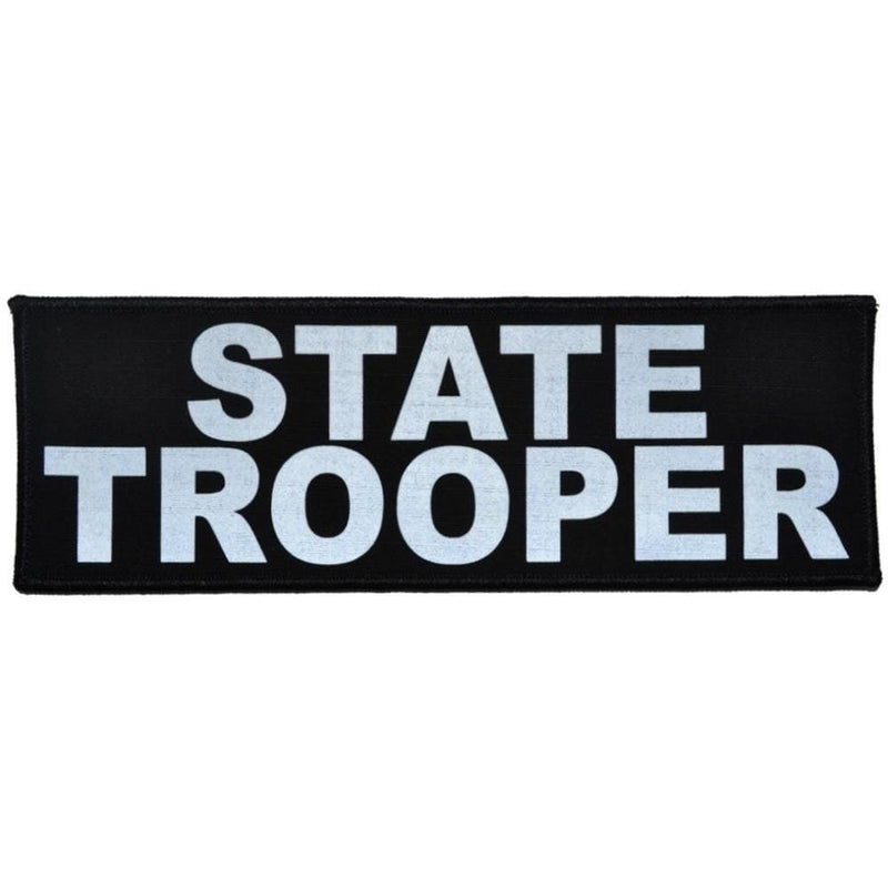 Tactical Gear Junkie Patches Black State Trooper Reflective - 3x9 Patch