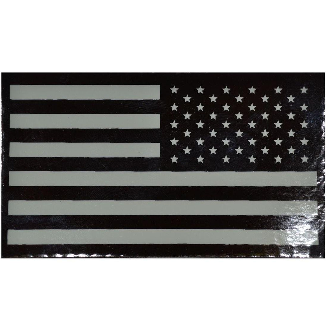 IR (Infrared) USA Flag, Reverse Facing (White Graphic) - 2x3.5 Patch