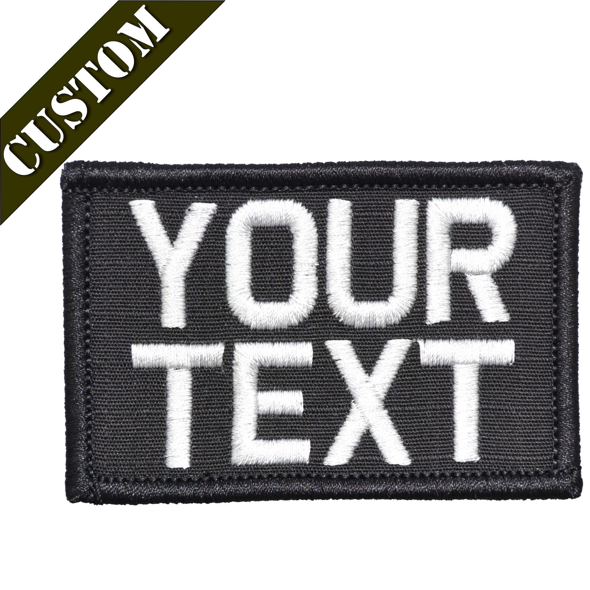 Custom Text Military 2x3 inch Patch. Your Text.  312434a3906