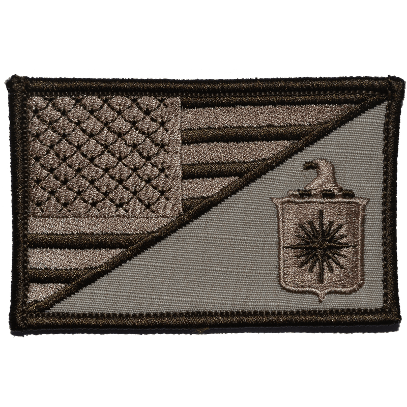 Tactical Gear Junkie Patches Desert Sand CIA Central Intelligence Agency USA Flag - 2.25x3.5 Patch
