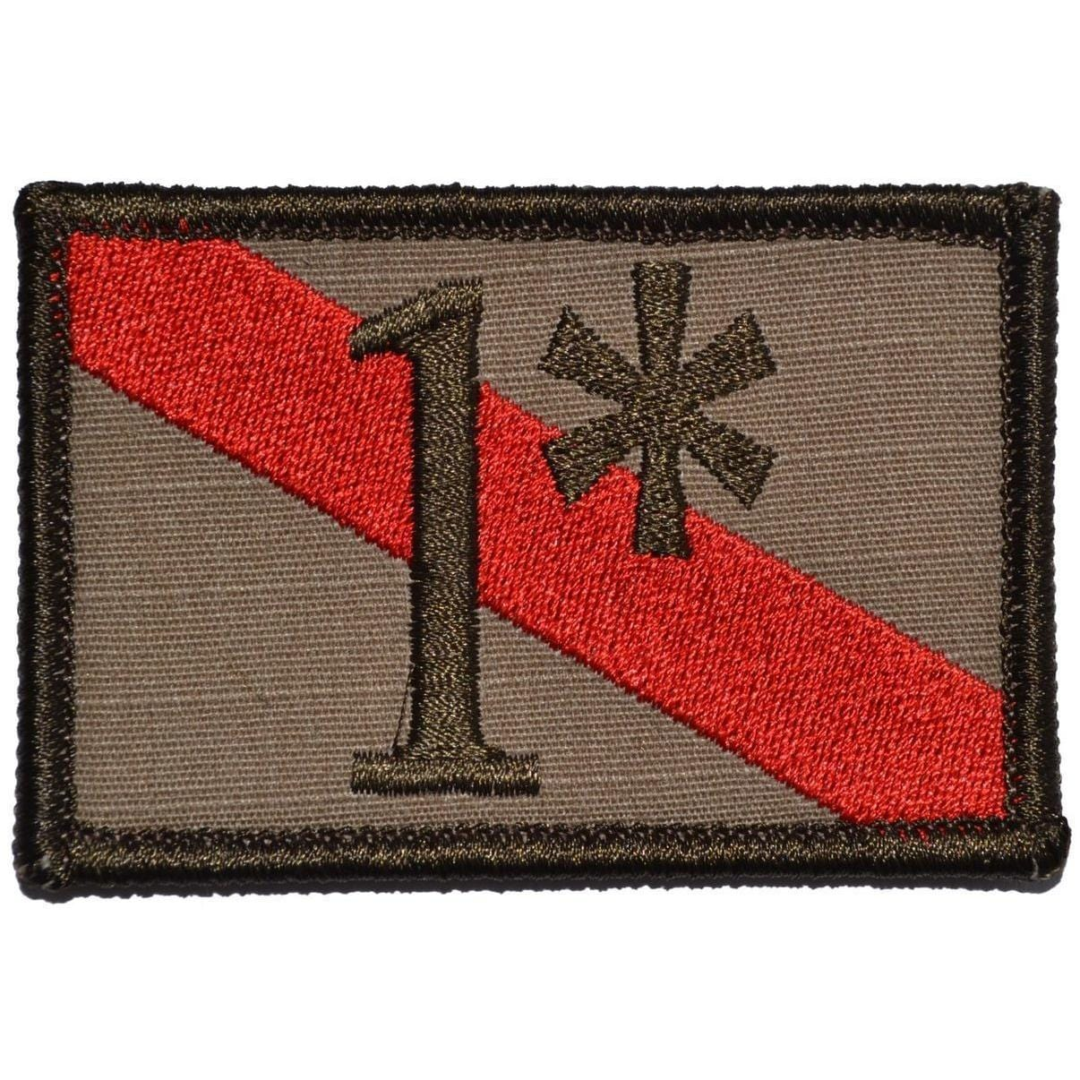 Firefighter 1* One Ass to Risk Thin Red Line - 2x3 Patch