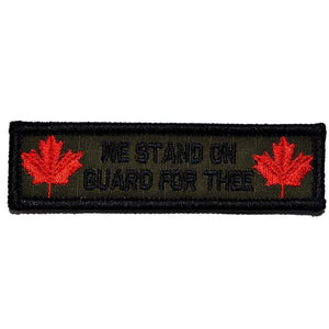 "Canada ""Stand on Guard For Thee"" Motto - 1x3.75 Patch"