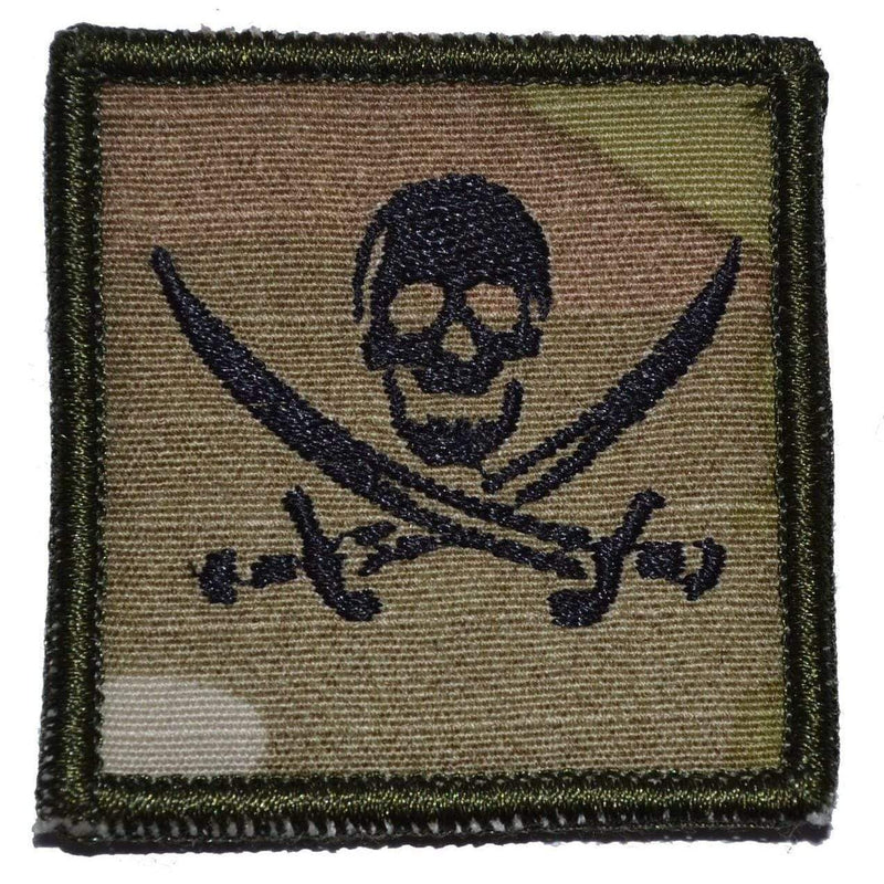 Tactical Gear Junkie Patches MultiCam Pirate Jolly Roger - 2x2 Patch
