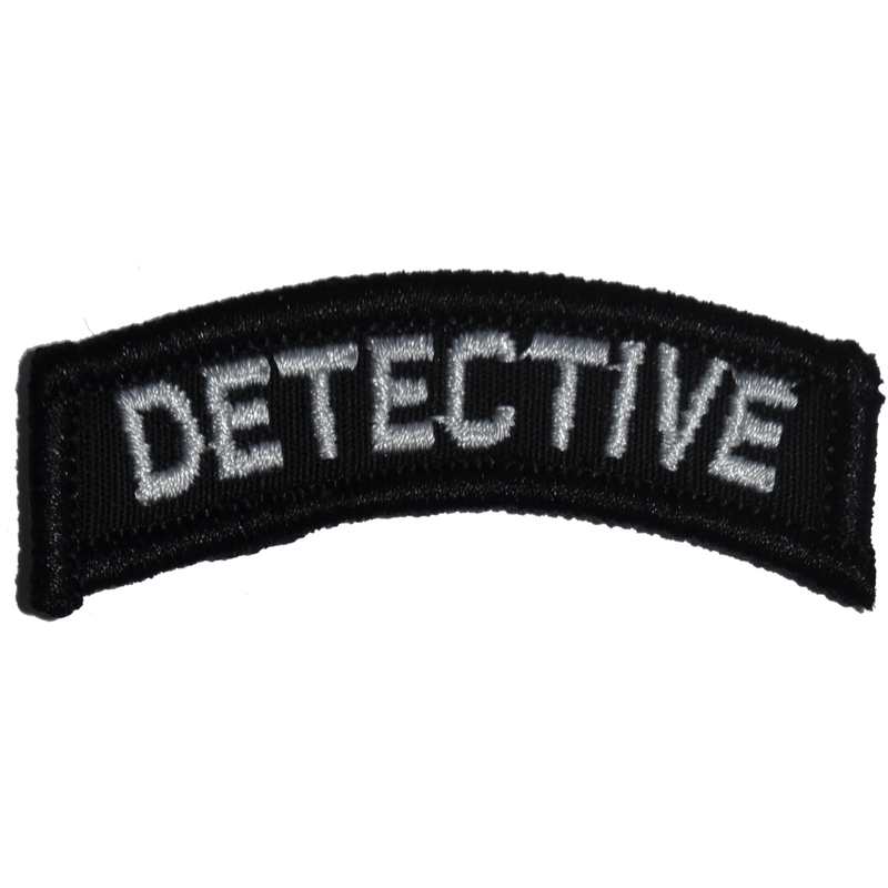 Tactical Gear Junkie Patches Black Detective Tab Patch