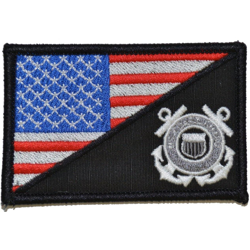 Tactical Gear Junkie Patches Full Color Coast Guard USA Flag - 2.25x3.5 Patch