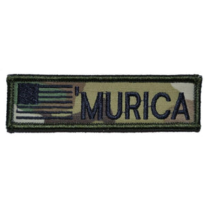MURICA with USA Flag - 1x3.75 Patch